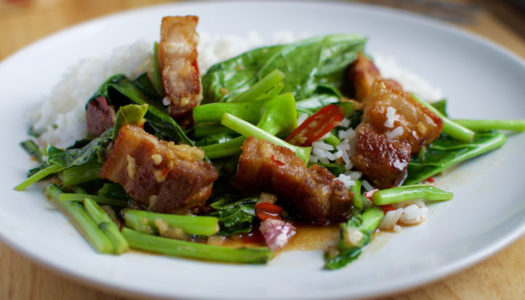 CRISPY PORK BELLY STIR FRY by The Roaming Cook