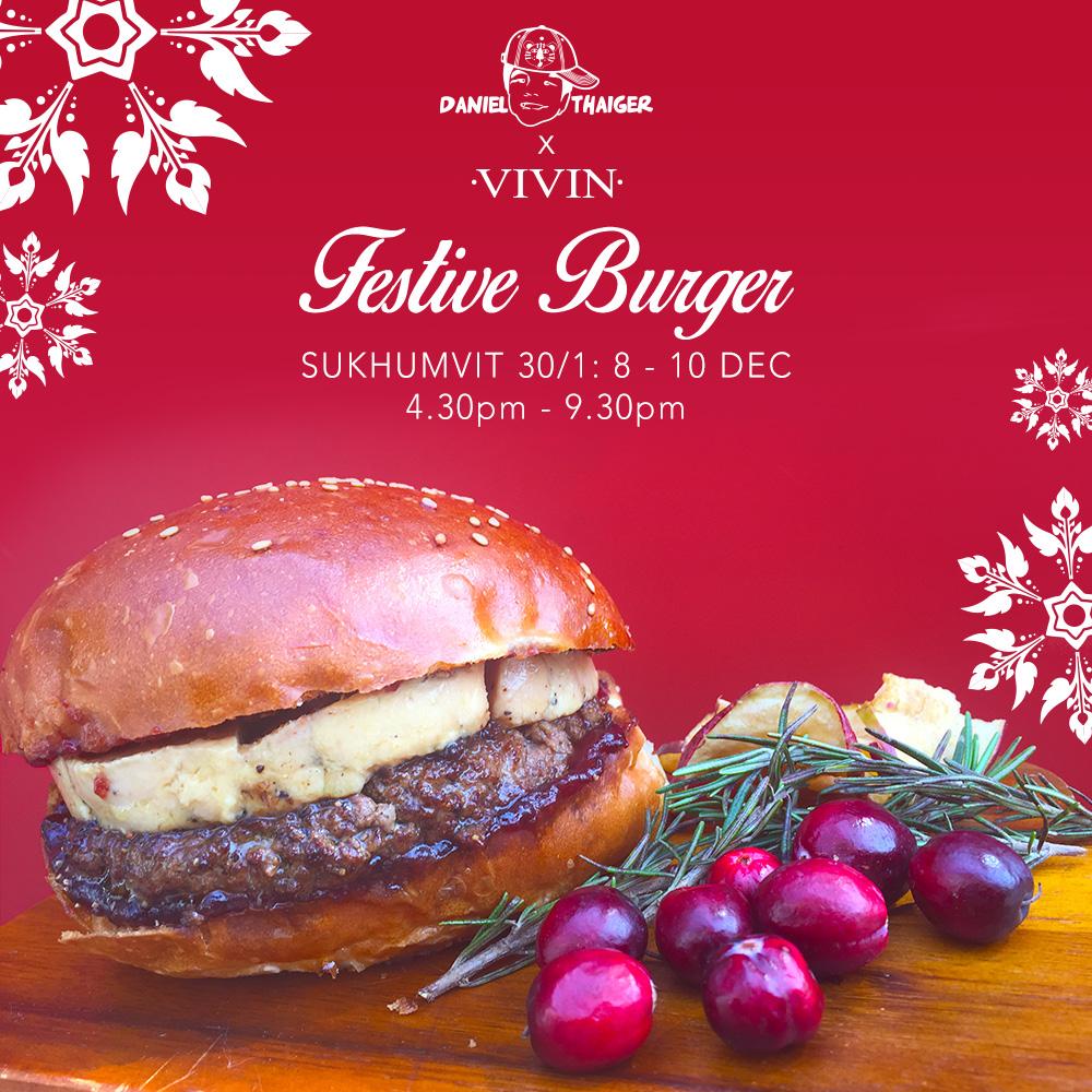 Daniel Thaiger Festive Burger