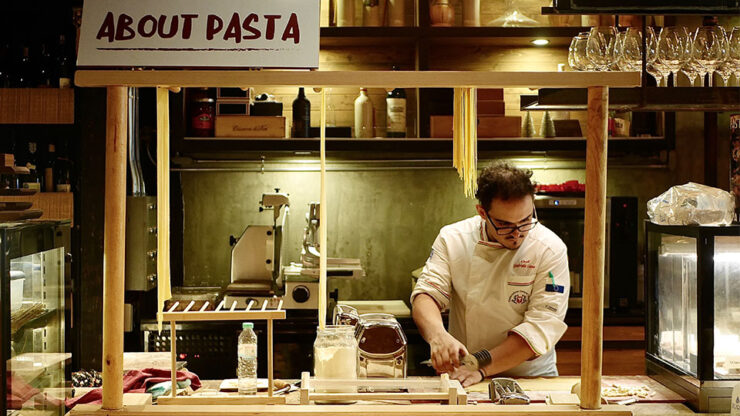 about pasta at about eatery with chef gabriele