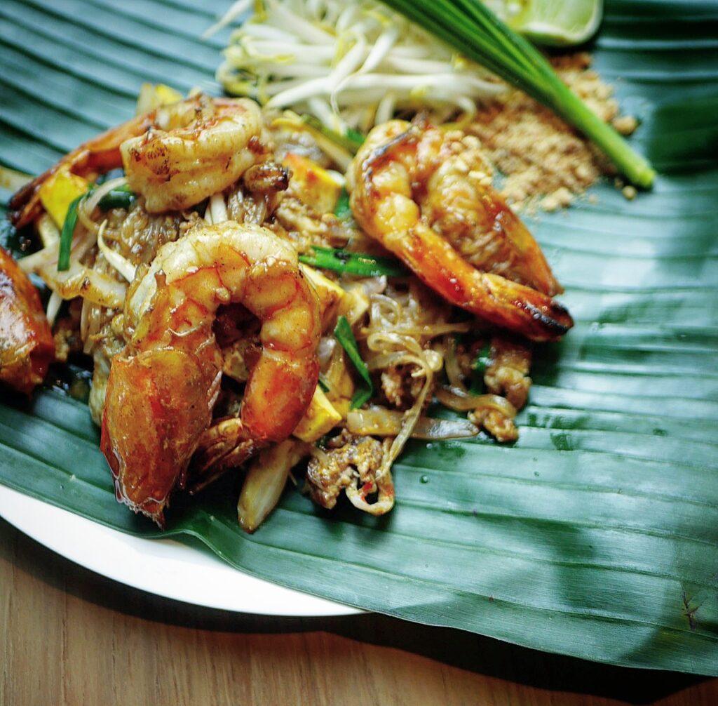 Pad Thai fai ta lu at Thai Taste Hub