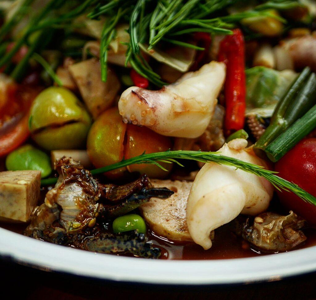 Close up of  Phed Phed Hey! Street Food Som Tum at Thai Taste Hub