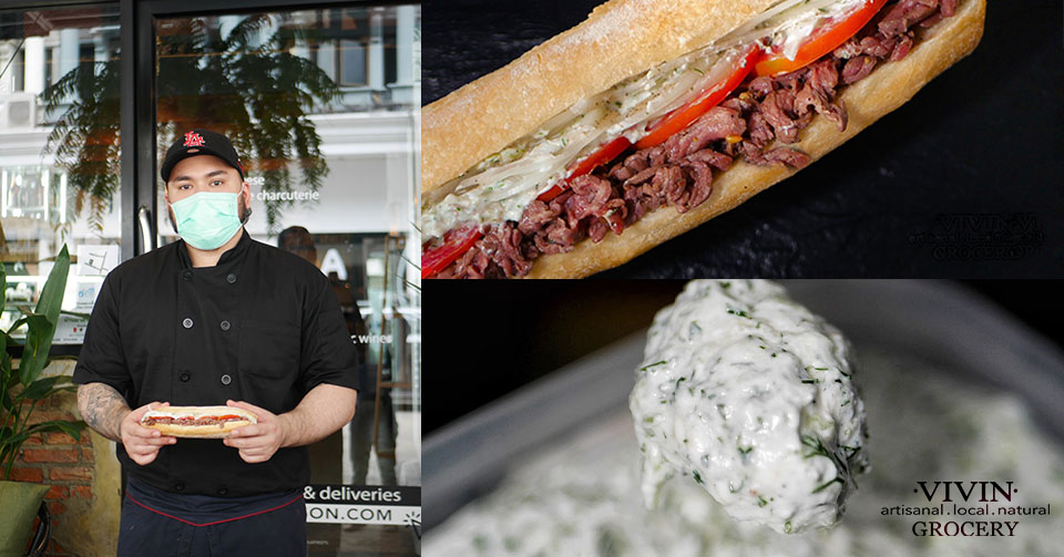 NEW SANDWICH! VIVIN Grocery introduces Cold Beef Steak and Tzatziki artisanal sandwich