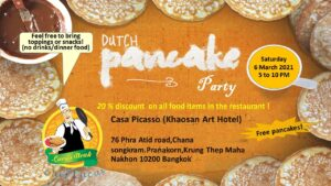 Dutch Pancake Party at Khaosan Art Hotel