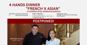 "4 Hands Dinner ""French x Asian"" at Montien Hotel Surawong Bangkok | Chef Som Jutamas Theantae x Chef Hervé Frerard"
